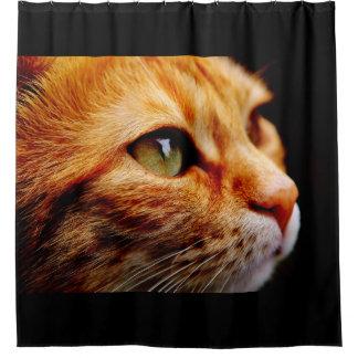 Chat de tigre orange rideaux de douche