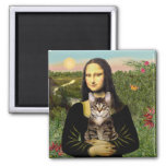 Chat de tigre tigré de Mona Lisa - de Brown Aimants
