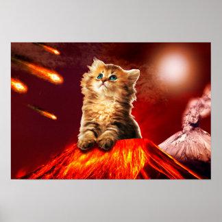 chat de volcan, chat vulcan, poster
