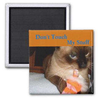 Chat désagréable - aimant de réfrigérateur de chat