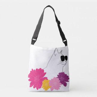 """""""Chat d'été"""" avec des sunglass et des fleurs de Sac Ajustable"""