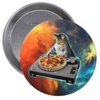 Chat DJ avec la table saine de jockey de disque Badge