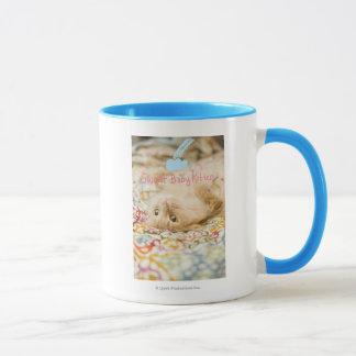 Chat doux de bébé tasse