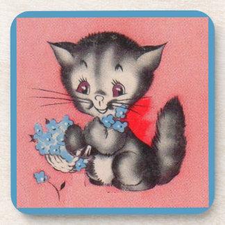 chat doux de minou dessous-de-verre