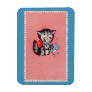 chat doux de minou magnet flexible