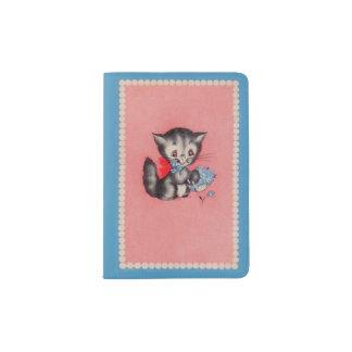 chat doux de minou protège-passeport