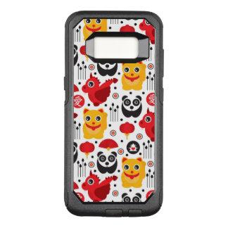 Chat, dragon, et panda chanceux de la Chine Coque Samsung Galaxy S8 Par OtterBox Commuter