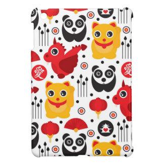 Chat, dragon, et panda chanceux de la Chine Étui iPad Mini