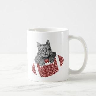 Chat drôle de football américain de typographie mugs à café