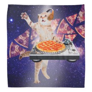 chat du DJ - chat DJ - chat de l'espace - pizza de Bandana