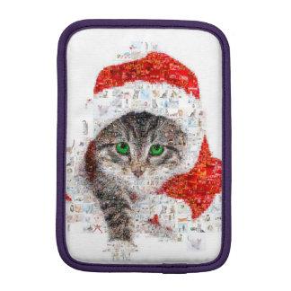 chat du père noël - collage de chat - minou - housse iPad mini