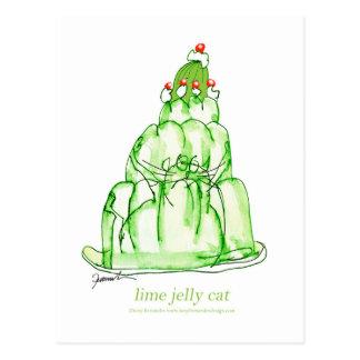 chat élégant de gelée de la chaux des fernandes cartes postales