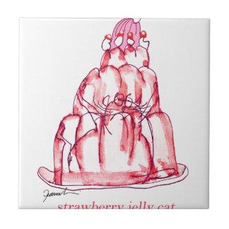 chat élégant de gelée de la fraise des fernandes petit carreau carré