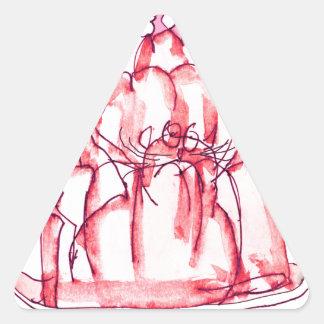 chat élégant de gelée de la fraise des fernandes sticker triangulaire