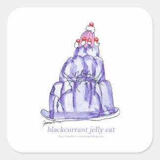 chat élégant de gelée du cassis des fernandes sticker carré