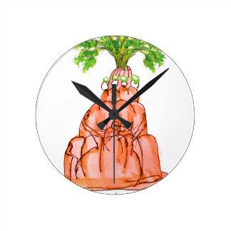 chat élégant de jello de la carotte des fernandes horloge ronde