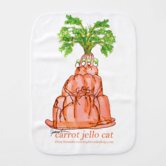 chat élégant de jello de la carotte des fernandes linges de bébé