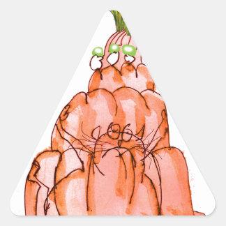 chat élégant de jello de la carotte des fernandes sticker triangulaire
