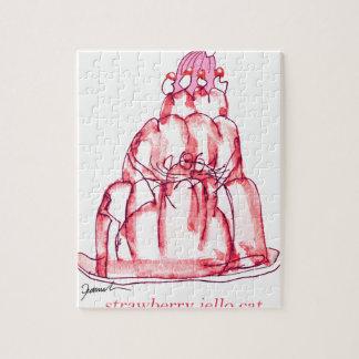 chat élégant de jello de la fraise des fernandes puzzle