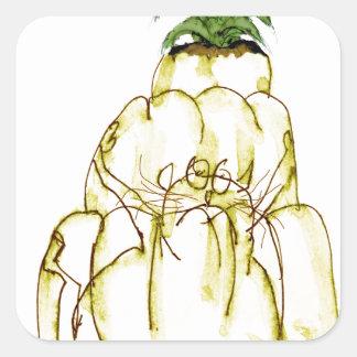 chat élégant de jello de l'ananas des fernandes sticker carré