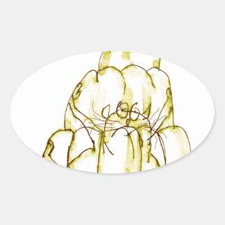 chat élégant de jello de l'ananas des fernandes sticker ovale