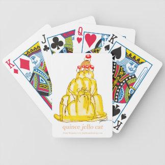 chat élégant de jello du coing des fernandes jeu de cartes