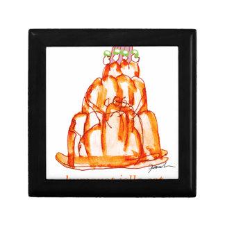 chat élégant de jello du kumquat des fernandes petite boîte à bijoux carrée