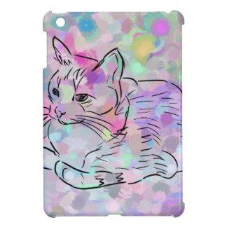 Chat en pastel étuis iPad mini