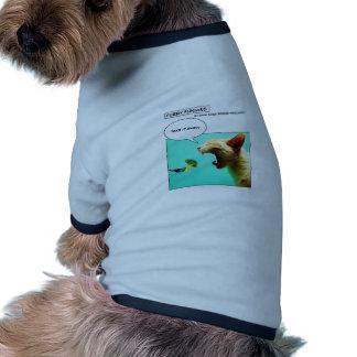 Chat et brocoli velus de ~ de Funnies T-shirt Ringer Pour Chien