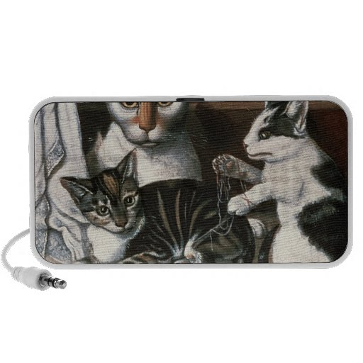 Chat et chatons, c.1872-1883 haut-parleur notebook