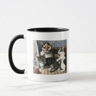 Chat et chatons, c.1872-1883 tasses