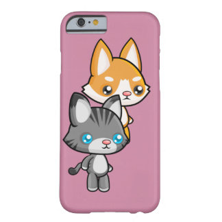 Chat et chien debout de Kawaii Coque Barely There iPhone 6