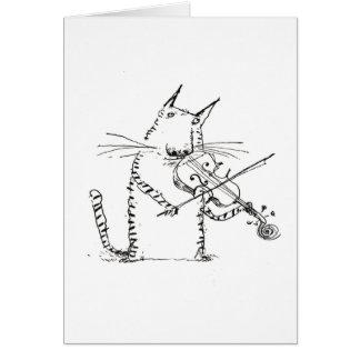 Chat et la carte de violon