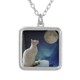Chat et lune collier