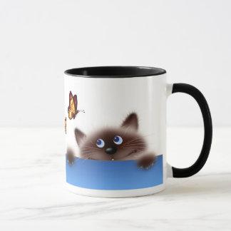 Chat et papillon mug