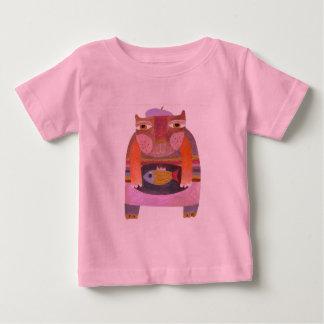 chat et poisson t-shirt pour bébé