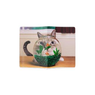 Chat et poissons - chat - chats drôles - chat fou protège-passeport