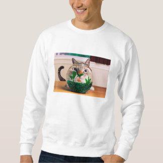 Chat et poissons - chat - chats drôles - chat fou sweatshirt