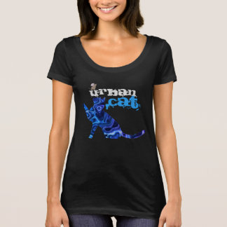Chat et souris urbains bleus tout plus de - t-shirt