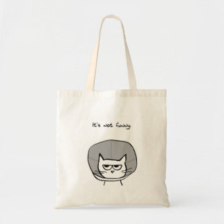 Chat fâché et le cône de la honte sac fourre-tout