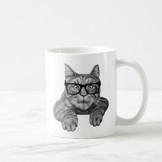 chat fou de geek de dame de chat mug