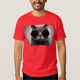 chat frais en verre de steampunk t-shirt