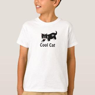 Chat frais - noir et gris t-shirt