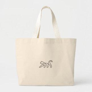 chat grand sac