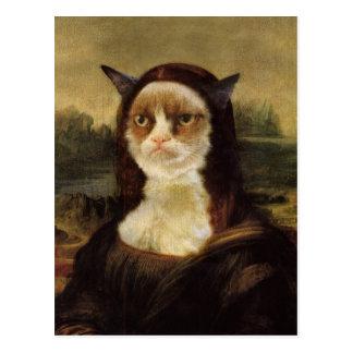 Chat grincheux carte postale
