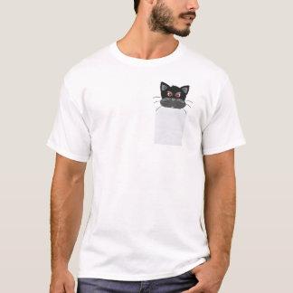Chat grincheux dans mon T-shirt drôle de poche
