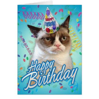 Chat grincheux de joyeux anniversaire
