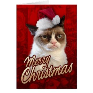 Chat grincheux de Joyeux Noël Carte De Vœux