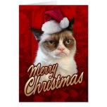 Chat grincheux de Joyeux Noël Cartes De Vœux