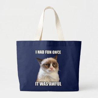 Chat grincheux Fourre-tout Grand Tote Bag